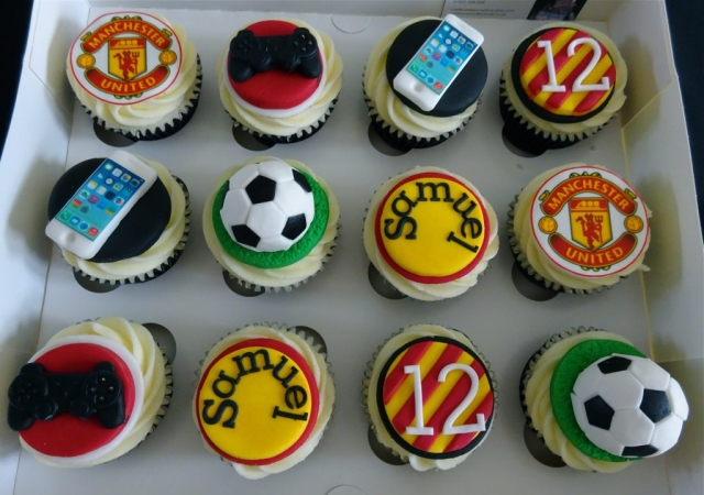"""Football, iPhone & XBox Cupcakes"""