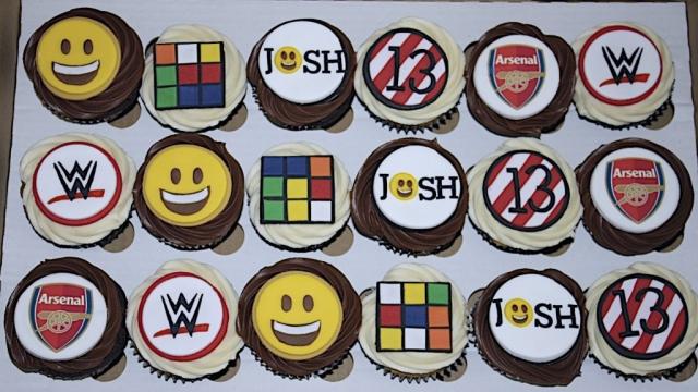 """Rubiks Cube, Arsenal, WWE Cupcakes"""