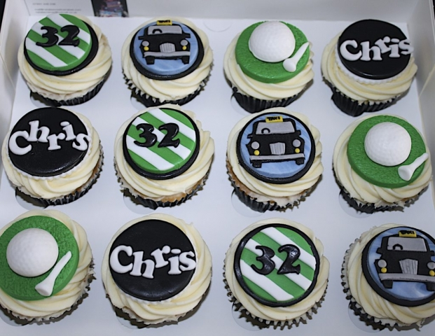 """""""Golf & Taxi Driving Cupcakes"""""""