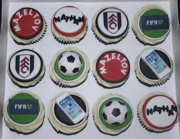 """Fifa, Footie & iPhone Cupcakes"""