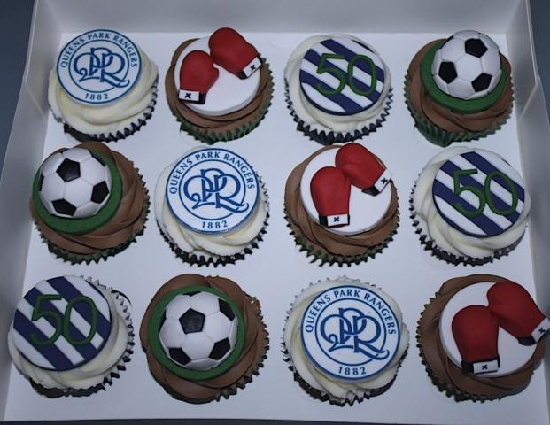 """""""Football & Boxing Cupcakes"""""""
