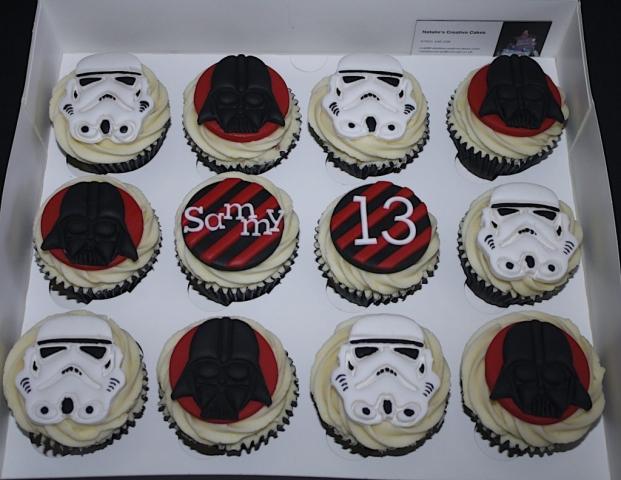 """Star Wars Storm Trouper Cupcakes"""