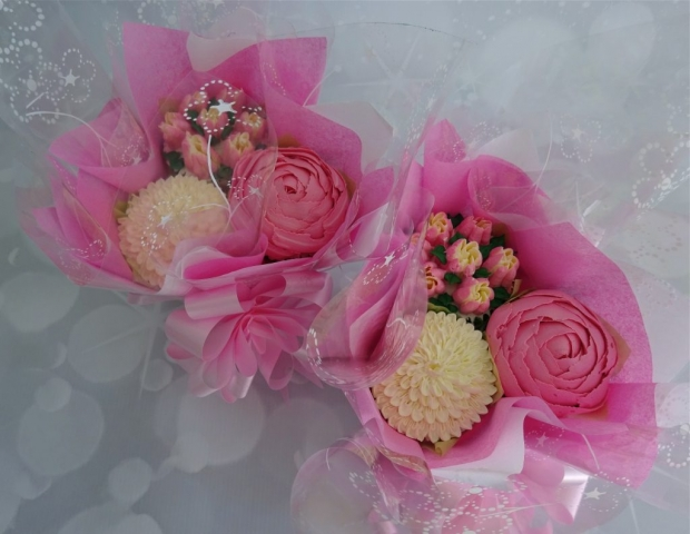 """Mini Bouquets in Pink/ White"""
