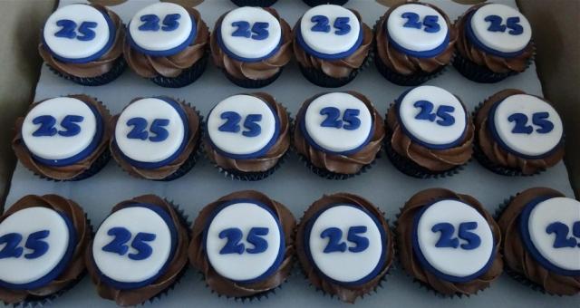 """25th Birthday Cupcakes"""